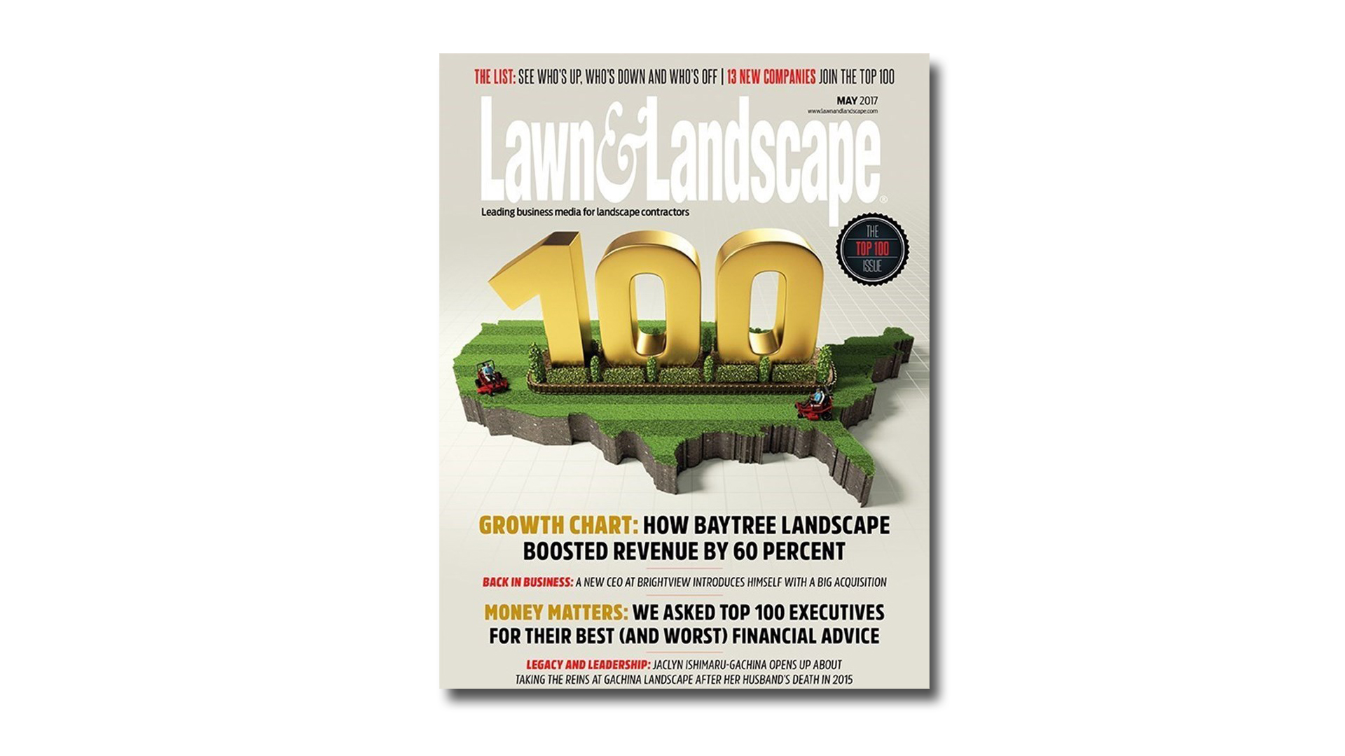 The Top 100 Lawn and Landscape Magazine Illustration